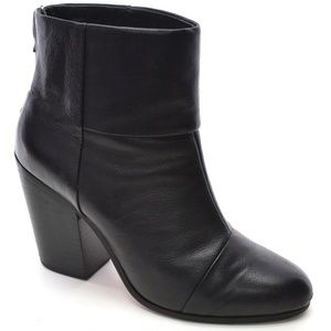 Rag & Bone Newbury Black Leather Ankle Boots 40